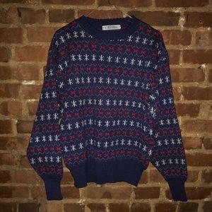 Vintage 1980s Unisex Purple Pullover Ski Sweater